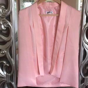 Jackets & Blazers - Designer inspired soft pink cape blazer